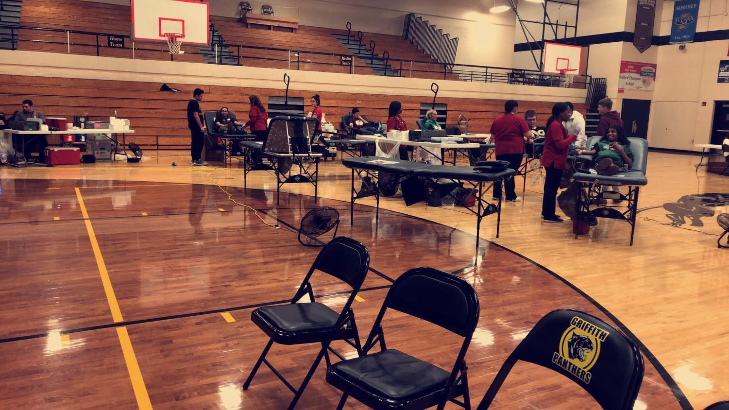 Student Council's annual blood drive with the American Red Cross on May 1.